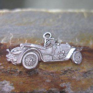 Sterling Silver Charm, 1914 Stutz BEARCAT Race Car